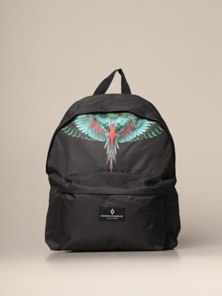Marcelo Burlon backpack in canvas with logo