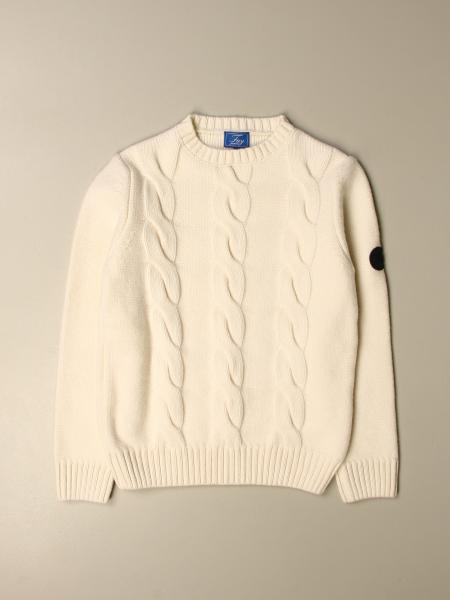 Fay: Fay pullover in cable-knit wool blend