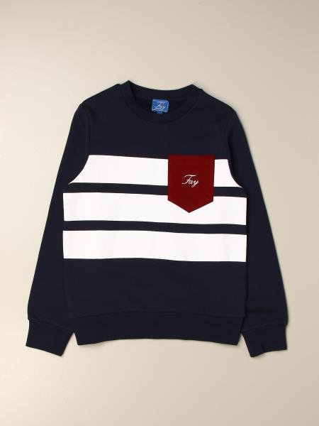 Fay: Fay cotton sweatshirt with patch pocket