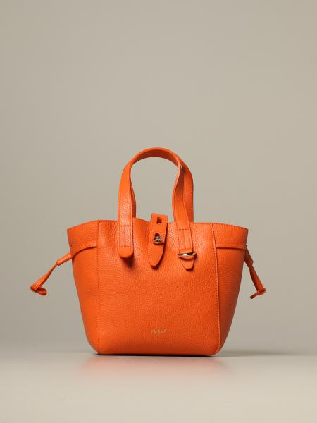 Furla mini tote bag in grained leather