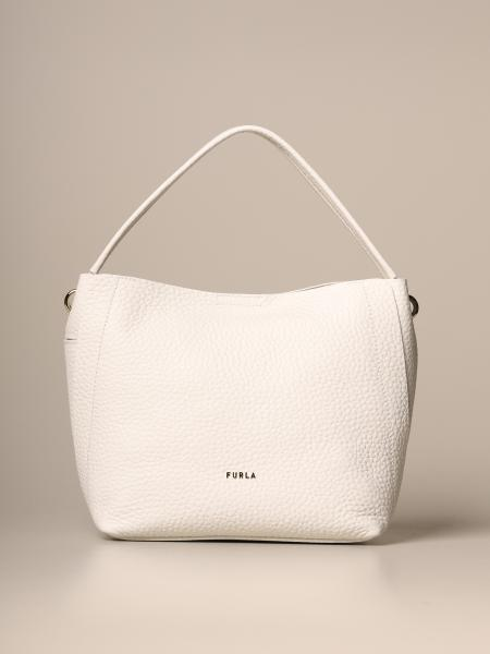Grace hobo Furla bag in grained leather
