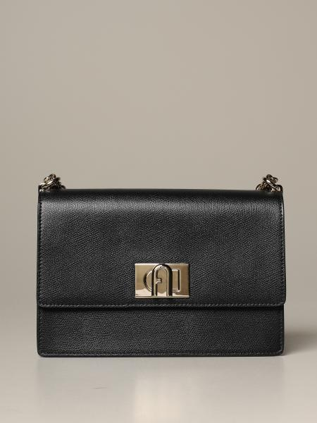 Bandolier bag S Furla 1927 in textured leather