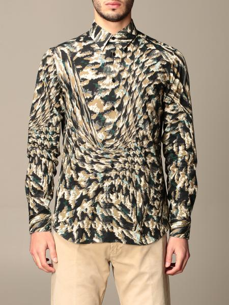 Roberto Cavalli shirt in animalier cotton