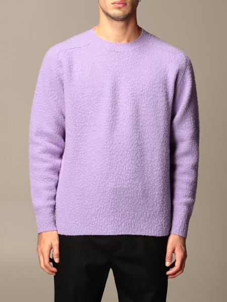 Virgin wool Grifoni crewneck sweater with casentino effect