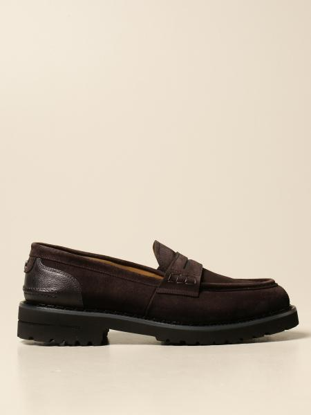 Brimarts slip on moccasin in suede