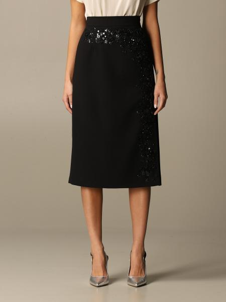 Blumarine: Blumarine midi skirt with rhinestone decorations