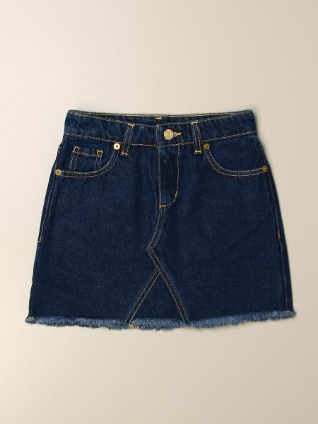 Chiara Ferragni denim skirt with flirting eyes