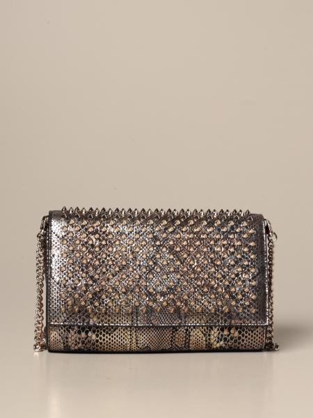 Christian Louboutin women: Paloma Christian Louboutin clutch in jurassic leather
