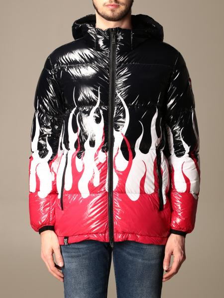 Colmar x Vision of Super down jacket with flame print