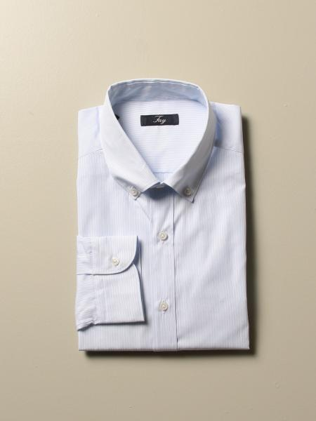Fay shirt with micro striped button down collar