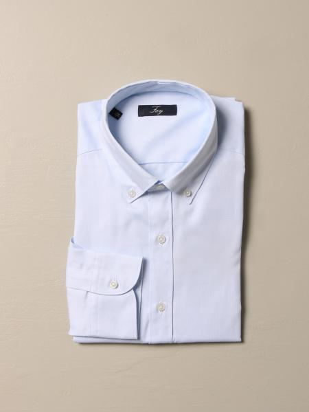 Fay: Fay Oxford shirt with button down collar