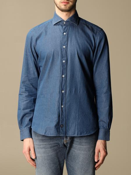 Fay: Fay denim shirt with French collar