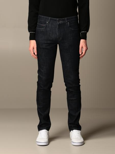 Fay: Fay jeans in slim stretch used cotton denim