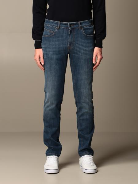 Fay jeans in used stretch cotton denim
