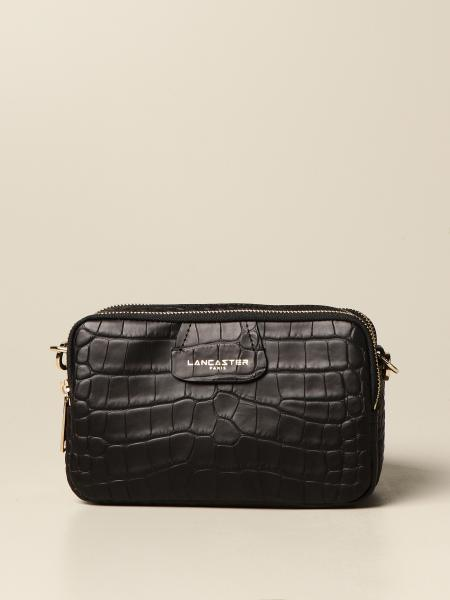 Lancaster Paris brick bag in crocodile print leather