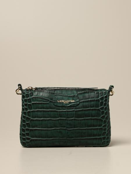 Lancaster Paris shoulder bag in crocodile print leather