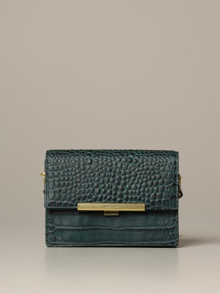 Lancaster Paris bag in crocodile print leather