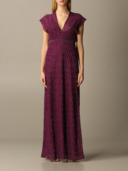 Missoni: M Missoni long dress in lurex knit