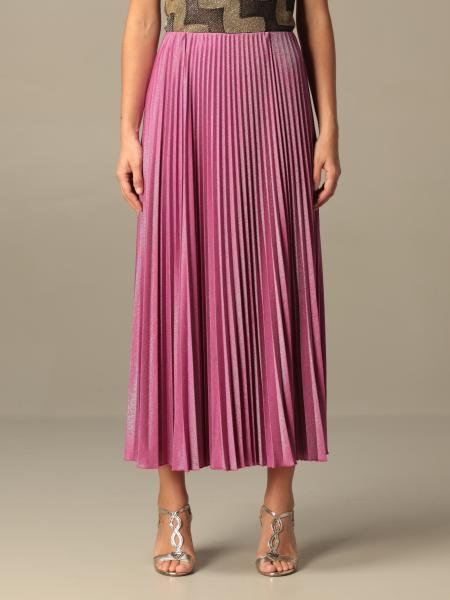 M Missoni long skirt in pleated lurex jersey