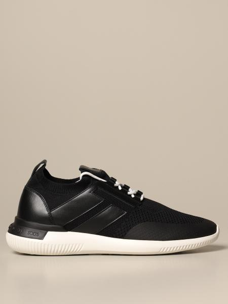 Tod's uomo: Sneakers No code Tod's in mesh e pelle