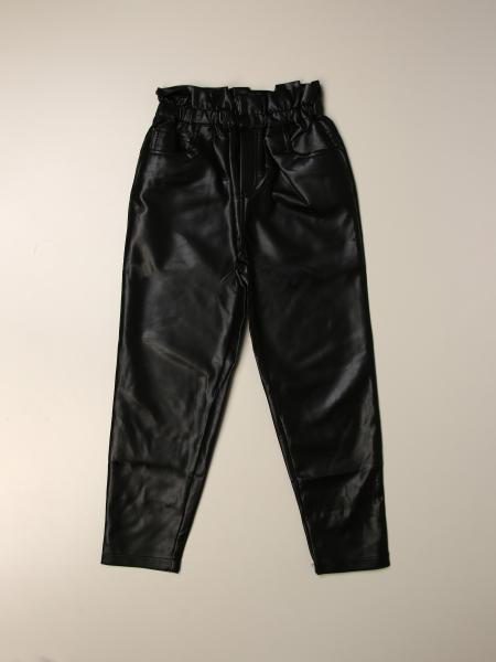 High waisted faux leather with rouche