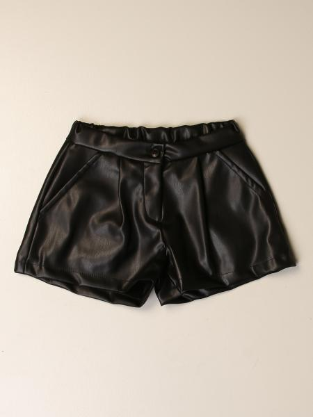 Miss Blumarine shorts in synthetic leather