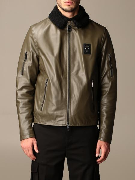 Paciotti 4Us: Paciotti 4US leather jacket with faux fur collar