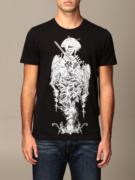 Paciotti 4Us men: Paciotti 4US T-shirt with samurai and rhinestone print
