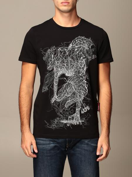 Paciotti 4Us men: Paciotti 4US T-shirt with print and rhinestones