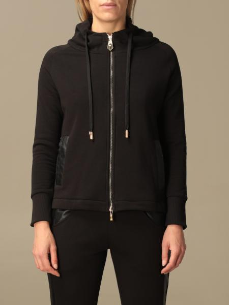 Paciotti 4Us: Paciotti 4US sweatshirt with zip and synthetic leather details