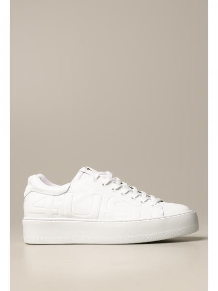 Paciotti 4Us men: Paciotti 4US sneakers in leather with embossed logo