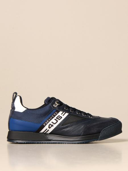 Paciotti 4Us men: Paciotti 4US sneakers in suede and leather