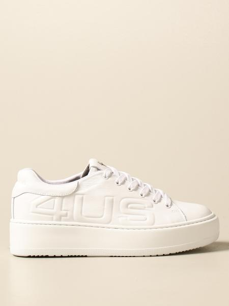 Paciotti 4Us: Paciotti 4US sneakers in leather with embossed logo