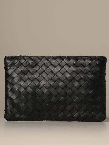 Pochette Bottega Veneta media in nappa intrecciata