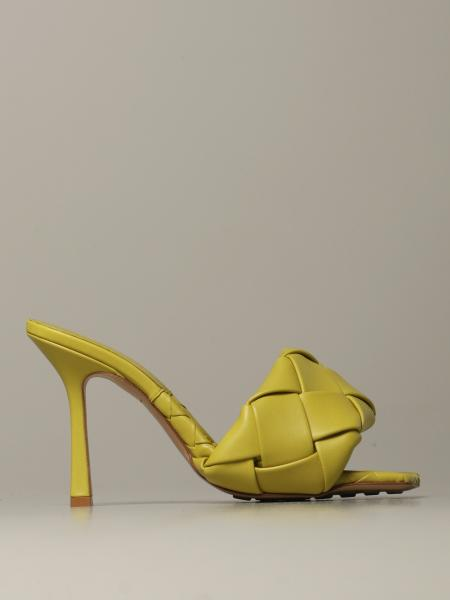 Bottega Veneta: Bottega Veneta BV Lido 编织纳帕革凉鞋