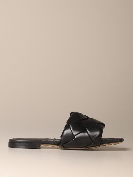 Bottega Veneta BV Lido flat sandals in woven nappa