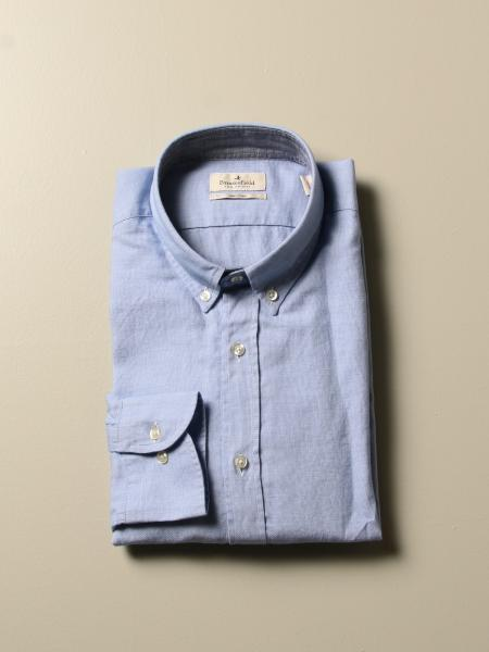 Brooksfield men: Brooksfield micro-operated shirt with button down collar
