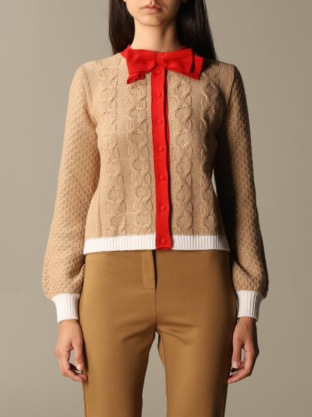 Be Blumarine: College bow cardigan