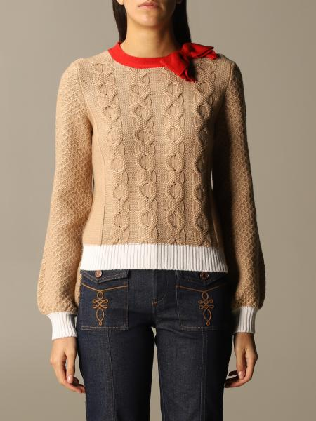 Be Blumarine: Crewneck with coillege bow