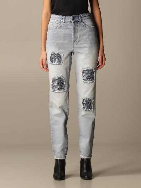 Be Blumarine: Be Blumarine jeans in denim with rhinestones