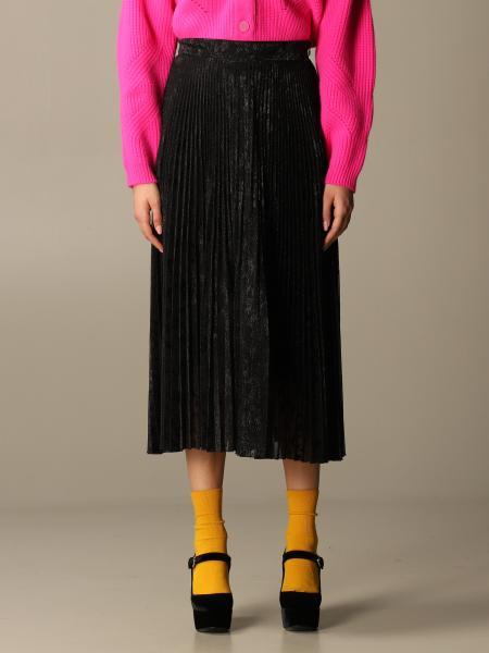 Blumarine pleated and lurex skirt