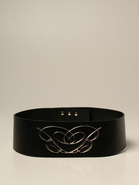 Blumarine: Blumarine leather belt with logo