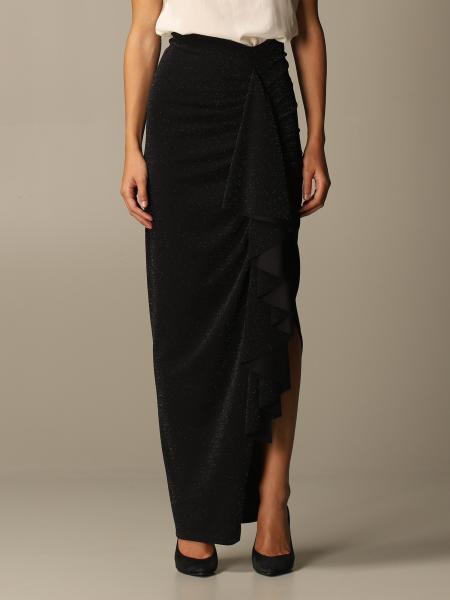Hanita long skirt in lurex fabric
