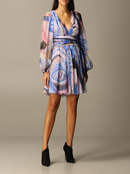 Emilio Pucci: Emilio Pucci dress in printed silk chiffon