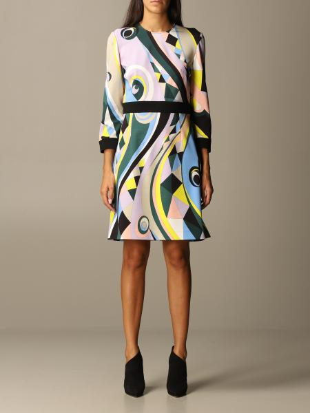 Emilio Pucci: Emilio Pucci sheath dress in printed viscose