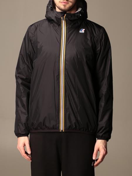 K-Way men: Le vrai 3.0 claude K-way jacket with hood
