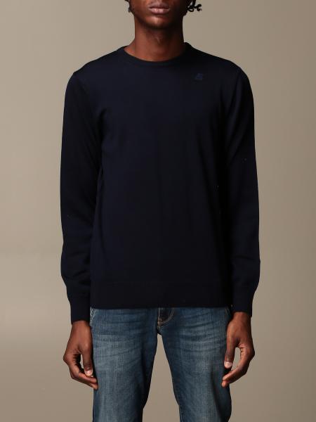 K-Way men: Sebastien K-way crewneck sweater in Merino wool