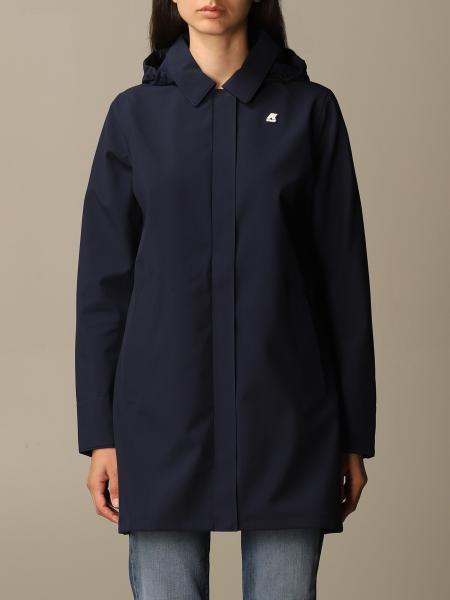 K-Way: Mathilde giacca lunga in neoprene con cappuccio staccabile K-way