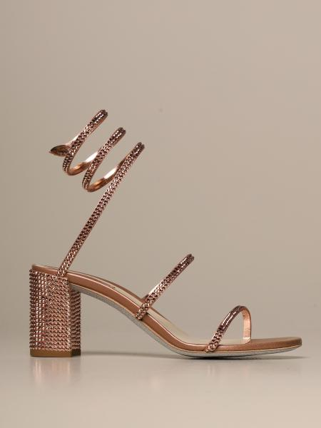 Cleo Snake René Caovilla sandal in satin with crystals
