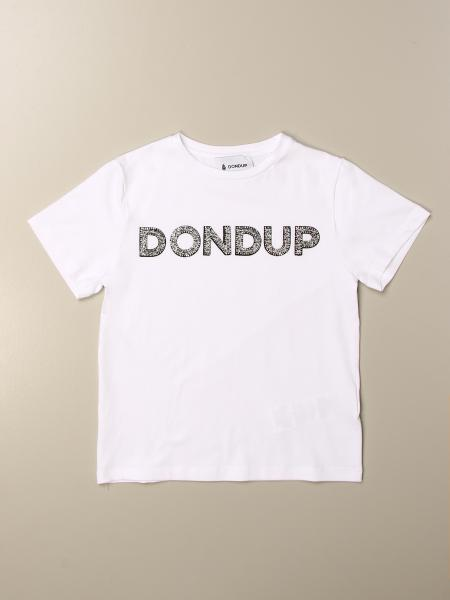 T-shirt Dondup con logo di strass